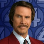 Ron Burgundy with mustache