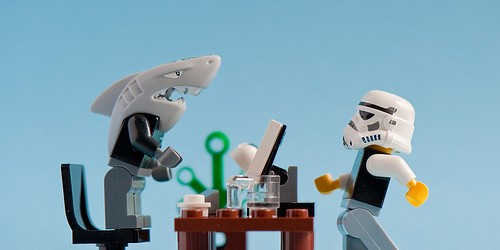 Shark and stormtrooper