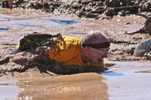 Guy in mud at the Warrior Dash