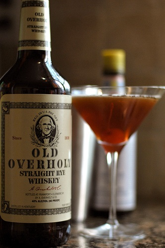 Cocktail and Old Overholt