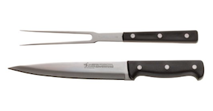 Carving knife and carving fork