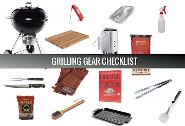 Grilling Gear Tools Checklist