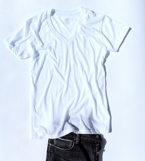 Ribbed-Tee-Retro-Fit-V-Neck-Undershirt