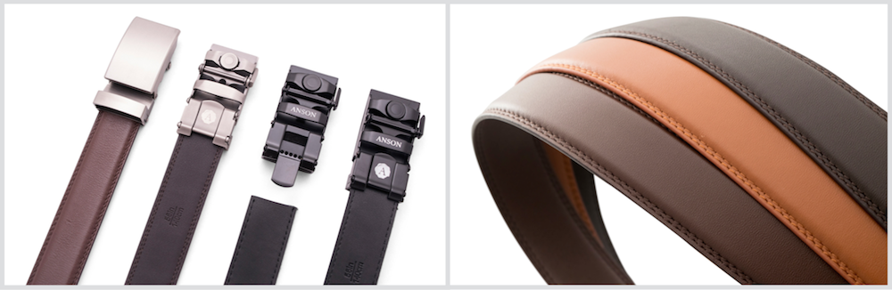 Anson micro-adjustable belts without holes
