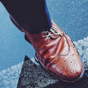 wingtips and jeans