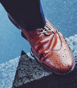 Wearing wingtips with jeans