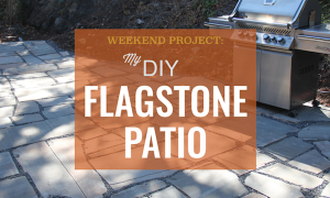 diy flagstone patio project steps