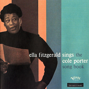 Classic jazz album Ella Fitzgerald sings the Cole Porters Songbook album cover
