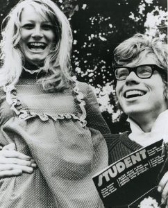 Richard Branson and then girlfriend starting Student Magazine