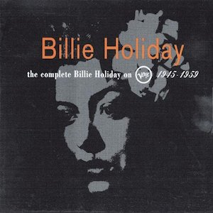 classic jazz album The Complete Billie Holiday on Verve album cover