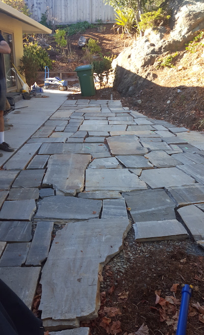 flagstone patio stones without filler - Weekend Project: DIY Flagstone Patio The Distilled Man