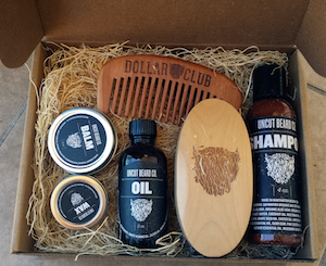 dollar-beard-club-monthly-shipment-box-opened