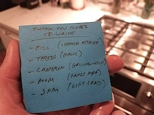 thank you note to do list