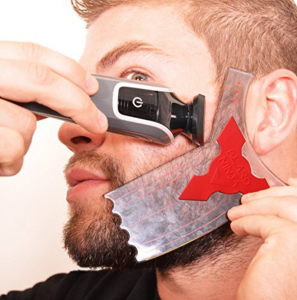 Unique men's grooming product Beard Ninja beard line shaving template