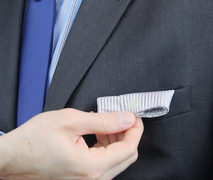 Fashion Anchors holding pocket square in place