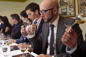 men tasting Scotch
