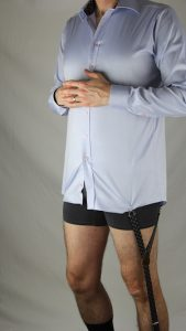 KK and Jay Shirttail Garters help shirt stay tucked