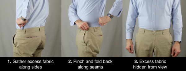 how to use the military tuck to tuck in your shirt
