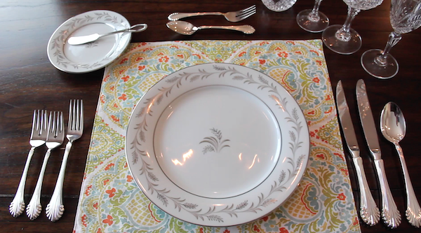 formal table setting should be set up in the order the courses are presented