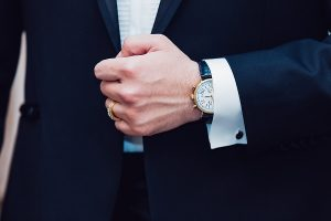 Man with a handsome watch