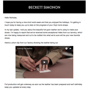 Beckett simonon process