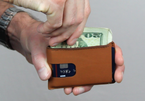 Cash Wallet center cash pocket for storing bills