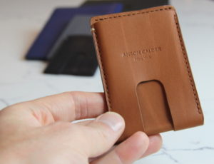 Full grain leather Anson Calder Cash Wallet
