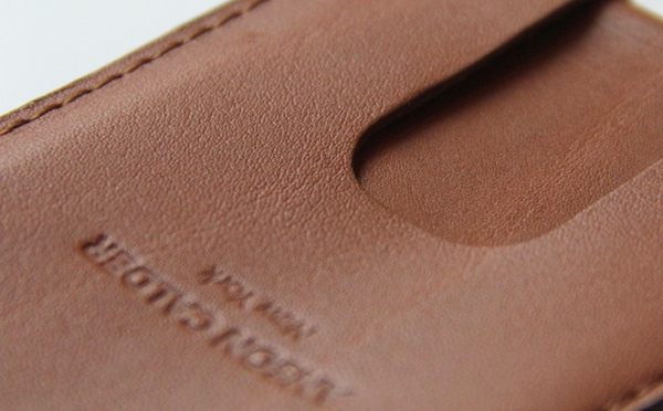full grain leather close up