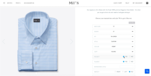 Made to measure customization options