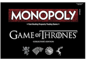 Game of Thrones themed Monopoly