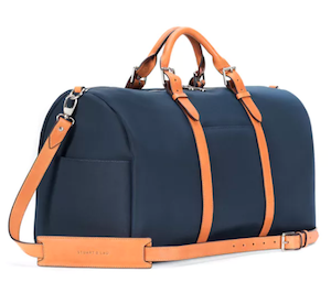 Monaco weekender bag with leather strap