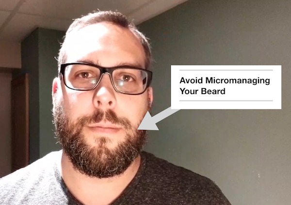micromanaging trimming beard