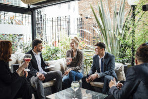 elevator pitch at networking event