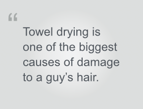 towel drying damages hair