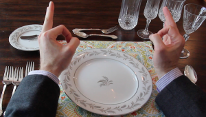 use the b and d trick to remember your bread plate and drinks are