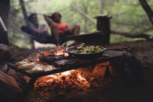 Cooking at Campsite
